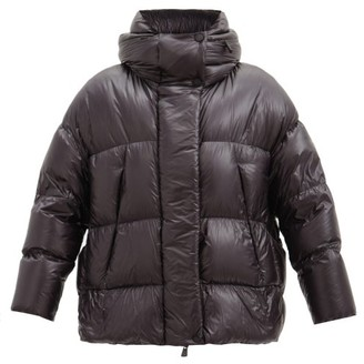 MONCLER GRENOBLE Arpuilles Logo-patch Quilted-shell Down Coat - Black