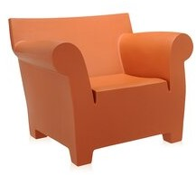 Kartell Bubble Armchair Upholstery Color: Siena Red
