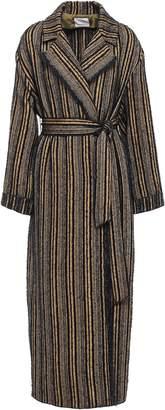 Forte Forte Forte_forte Belted Frayed Boucle-tweed Coat