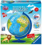 Ravensburger Children's Globe - 180pc 3D Puzzle