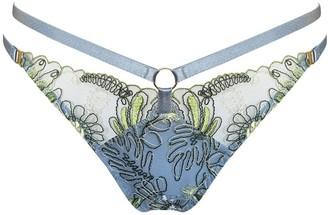 Bordelle Botanica Embroidered Strap Thong
