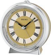 Seiko Two Tone Metallic Case Bedside Alarm ClockQhe132glh