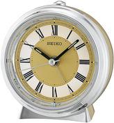 Seiko Two Tone Metallic Case Bedside Alarm ClockQhe132glh