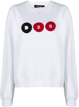 DSQUARED2 D25 logo-patch sweatshirt