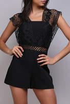 Do & Be Black Crochet Romper