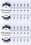 Christina 100% Human Hair False Eyelashes (#43-12Pack)
