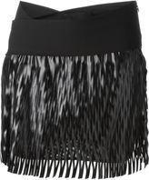 Jay Ahr cut-out detail mini skirt