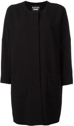 Boutique Moschino Three-Quarters Sleeve Boxy Coat