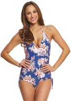 Seafolly Vintage Wildflower Deep V One Piece Swimsuit 8158455