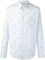 Gucci Bee embroidered shirt - men - Cotton - 42