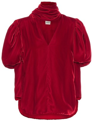 KHAITE Jones velvet top