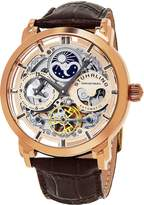 Stuhrling Original Men's 'Legacy' Automatic Stainless Steel and Brown Leather Dress Watch (Model: 371.03)