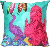 Hamam Royal Pink Palace Peacock Cushion Cover