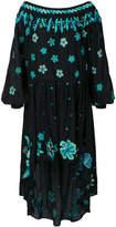 Michel Klein embroidered floral dress