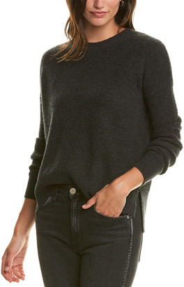 Amicale Cashmere Thermal Stitch Cashmere Sweater