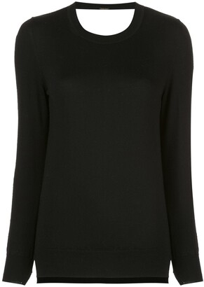 ADAM by Adam Lippes lace detail knit jumper