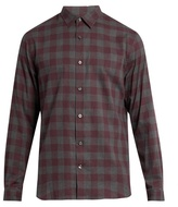 Vince Gingham Long-sleeved Cotton Shirt