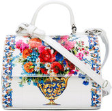 Dolce & Gabbana floral print flap shoulder bag - kids - Calf Leather - One Size