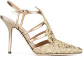 Alberta Ferretti embroidered pointed pumps - women - Calf Leather/Leather/polyester - 40
