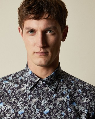 Ted Baker TOOBIG Floral print cotton shirt