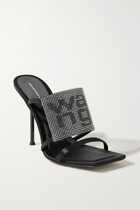 Alexander Wang Julie Crystal-embellished Mules - Black
