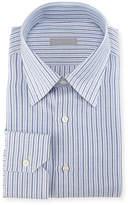 Stefano Ricci Thick-Stripe Cotton/Linen Dress Shirt