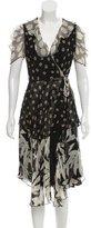 Anna Sui Silk Wrap Dress