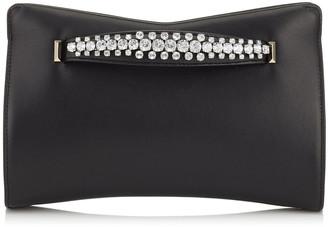 Jimmy Choo VENUS Black Nappa Leather Clutch Bag