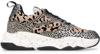 P448 Luke animal-print low top trainers