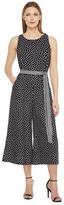Christin Michaels Constance Sleeveless Polka-Dot Jumpsuit Women's Jumpsuit & Rompers One Piece