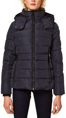 Esprit Short Padded Jacket with Stand-Up Collar