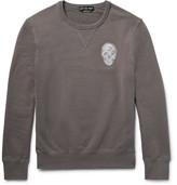 Alexander McQueen Skull-embroidered Loopback Cotton-jersey Sweatshirt