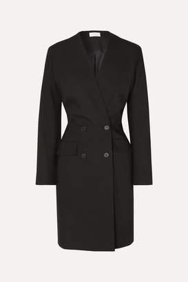 The Row Medina Double-breasted Wool-twill Jacket - Black