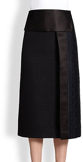 The Row Paneled Jacquard Skirt