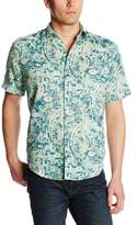 Margaritaville Men's Short Sleeve Gauze Shirt Koi
