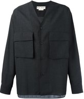 Marni raw edge checked shirt