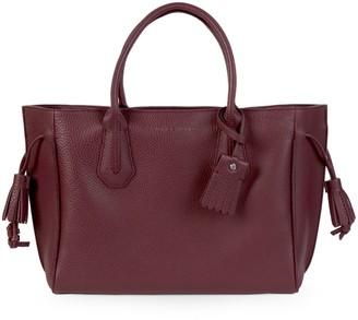 Longchamp Penelope Pebbled Leather Double Top Handle Bag