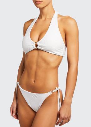 Letarte Nantucket Palm Lace Ring Bikini Top