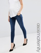 Asos Ridley Skinny Jean In Minx Wash With Under The Bump Waistband