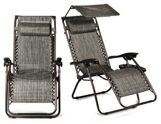 Zero Gravity Casillas Reclining/Folding Chair with Cushion Freeport Park Cushion Color: Gray
