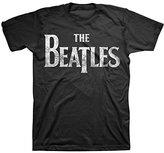 Bravado Men's The Beatles Vintage Logo Black T-Shirt