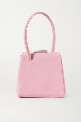 Little Liffner Mademoiselle Lizard-effect Leather Tote - Pink