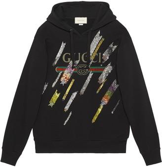 Gucci logo sweatshirt with shooting stars