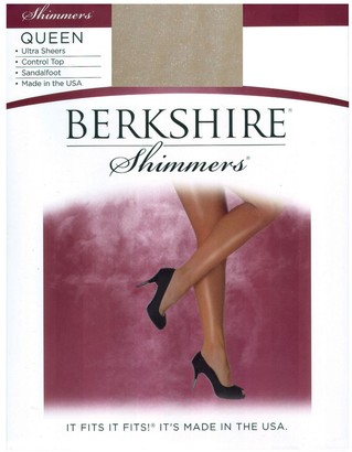 Berkshire Women's Plus-Size Queen Ultra Sheer Control Top Pantyhose 4412