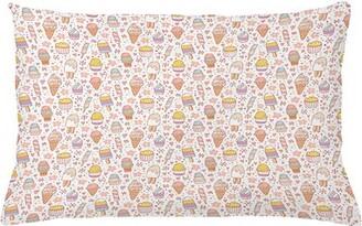 "East Urban Home Ice Cream Indoor / Outdoor Lumbar Pillow Cover Size: 16"" x 26"""