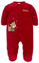 Little Me Infant Boys' First Christmas Reindeer Velour Footie - Sizes 3-9 Months