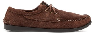 Quoddy Blucher Suede Loafers - Brown
