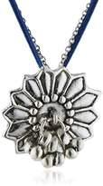 Scooter SCR60406048 Vishnu-Women's Necklace Silver-Plated Metal Choker Necklace Link Steel Blue