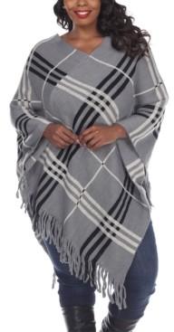 White Mark Women's Plus Size Dakota Poncho