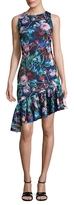 Alexia Admor Floral Print Asymmetrical Dress